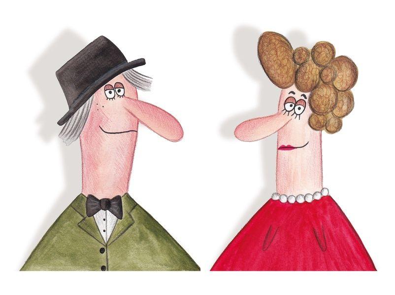 portrait of middle age spouses